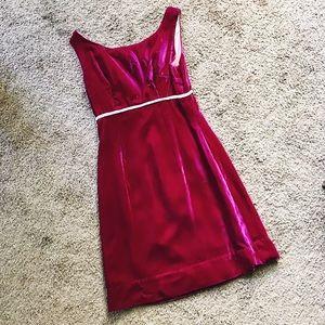 1960s velvet fuchsia dress